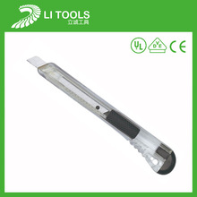 Hot sale plastic snap off cutter knife with carbon steel blade