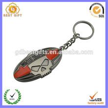 Custom made shaped metal keychain