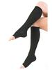 Medical grade compression hosiery open toe knee high sock 20-30mmhg