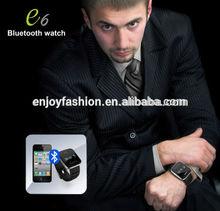 designer brand bluetooth smart watch/cheap price bluetooth watch wrist mobile E6