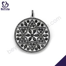 Round black cz inlaid necklace swarna mahal jewellers necklace