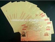 Golden Foil Banknote, India God Pictures, Golden Foil Envelop