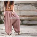 plus tamanho mais recente projeto de longo harem pants feminina rosa de algodão e linho atacado roupas de hip hop