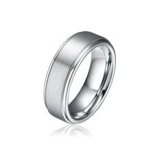 7MM Men's Tungsten Carbide Ring with Brushed/Satin/Matte ,Wedding/Engagement Band TU041R