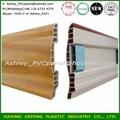 2014 venda quente madeira acessórios piso laminado plástico rodapés técnicos