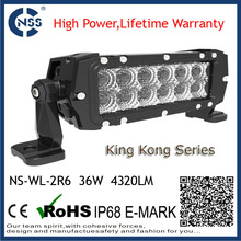 2 row 6inch curve 288w off road led driving light bar