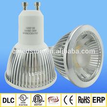 cETL ETL CE ROHS SAA listed Epistar cob chip 500lm 80RA dimmable cob gu10 led bulb 550 lumen