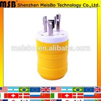 Anti-off 2P+E IP20 125V 30A NEMA L5-30P 3pins Industry american plug adapter