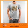 100%Cotton Basic T-shirts Gold printing T-shirts Round Neck for Men