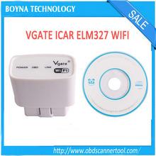 2014 Hot Sale Original Vgate ELM327 WIFI OBD2/OBD II Diagnostic Interface for i-p-h-o-n-e i-p-a-d Android ELM327 WIFI327