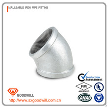 expansion joint banded malleable iron fitting elbow 45 degree