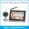 2015 7'' inch high resolution LCD monitor digital baby monitor with night vision and remote control