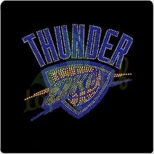OKC Oklahoma THUNDER Hotfix Motif Rhinestone Basketball Designs
