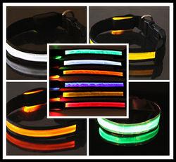 Waterproof LED Light up Necklace Pet Flashing Collar