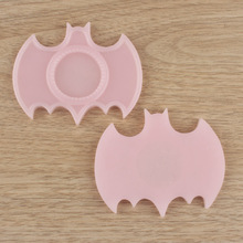Hottest 70x57mm Pink Bat Shape Resin Cabochon Settings Base Necklace Pendant Blank Trays Fit 25MM Photo Cabochon