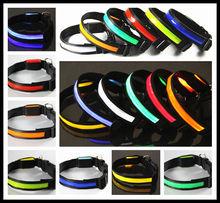 Hot Selling Pet LED Light up Glowing Collar Dog Leash