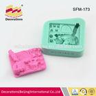 Silicone make fondant decorations cakes,sugarpaste moulds,decor silicone molds