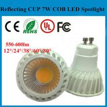High power 7w led lamp gu 5.3/E17/E17 warm white gu10 led bulb 3000k 60/80 degree led gu10 spotlight 7W Hot Sale, Low Price