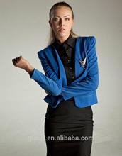 Fashion Royal blue color office uniform designs for women