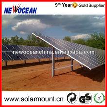 pile ground mounted aluminum solar panel racking
