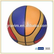 Highest quality colorful pu basketball