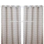 Bedroom window fabric sunshade british plaid curtain