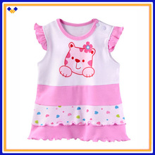 100% cotton baby t-shirt ,sleveless baby tank top ,baby summer clothing