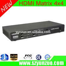 4x4 matriz hdmi switch splitter& sobre a rede cat5e/cat6 cabo w/remoto