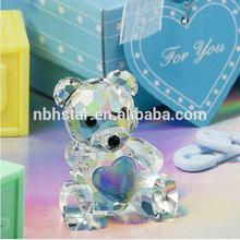 2014 new fashion crystal bear wedding favor(HSD-FC-1542)