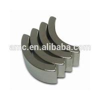 Zinc Zn Coating Arc Segment Sintered NdFeB Magnets for AC high speed motor