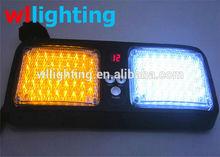 Car 12v 86 LED 43 LED Car Truck Strobe Emergency Lights Bright Visor Amber White