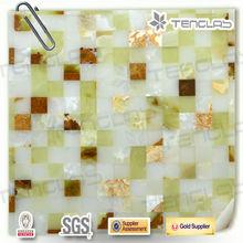 glass mix ceramic stone garden pattern mosaics