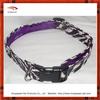 Purple Accent Animal Print Dog Collar