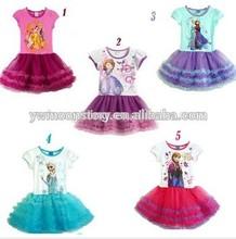 my girls beautiful princess dresses pretty children tutu prom dress!!