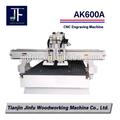 Ak600a cnc dupla- eixo de madeira cinzelando a máquina