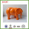 Hot sale promotion orange elephant figurine home ornament