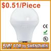 100% Brand New High-quality 0.51/piece e27 led lighting bulbs 5w
