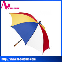 OEM wholesale and manufacture cheap promotional gifts colorful multi-color golf umbrella
