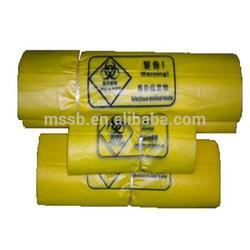 China 30*50cm,yellow plastic handle PE shopping bag