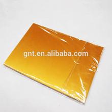 Golden inkjet plastic sheet for pvc card