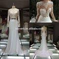 اسرائيل 2014 berta الزفاف مصمم أزياء مثير فتح عودة طويلة الأكمام الدانتيل الفرنسي الأنيق فستان زفاف فاخر