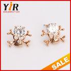 Girls Fashion Hoop Ear rings Jewelry Crystal Gold Earrings Tops Designs
