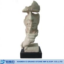 1 artistique buste tête, pierre buste en marbre