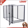 Large outdoor breeding panel weld mesh dog cage in 5' x 10' x 6'