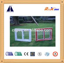Cheap price PVC window, own brand PVC profile 80mm depth frame pvc sliding window with all components, sliding window