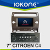Window CE 6.0 System 7inch In Dash Car dvd player support DVB-T ISDB-T car player with gps for CITROEN C4