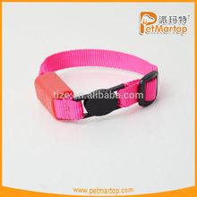 Pure color & nylon TZ-PET9001 safety led cat collar, cat collar led