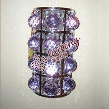 Unique wall bracket light fitting, purple crystal wall light