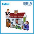 best seller paintable papelão casa de brincar de teatro para crianças