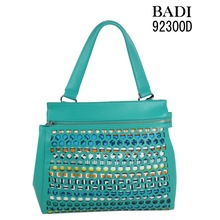 Leisure 2014 fashion cutting pattern pu bolsas femininas factory handbags females shoulder bags